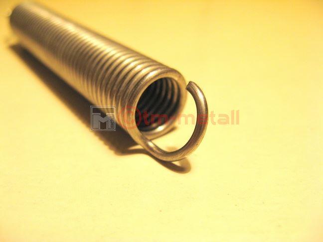 zugfedern zugfeder feder edelstahl va 12 mm 63 mm lang d 1 2 mm ebay. Black Bedroom Furniture Sets. Home Design Ideas